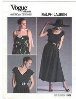 Vogue 1909 Ralph Lauren Pullover Top & Long Flared Skirt Pattern Uncut Choose Sz