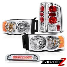 Dodge RAM 1500/2500/3500 Chrome headlight+chrome Taillights+Led clear brake lamp