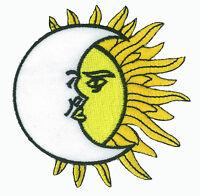 Ecusson patche Lune & Soleil thermocollant applique patch DIY brodé