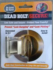 Deadbolt Secure Satin Nickel, Prevents Lock Bumping & key Bumping