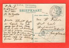More details for apo s105 army post office postmark rotterdam  pc 1919 ref r423