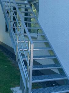 Podest Treppe ,Feuerschutztreppe, Industrietreppe ,Fluchttreppe Neu