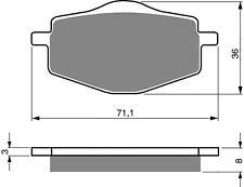 Brake Disc Pads Rear Goldfren For MBK X-Power 50 (TZR 50) 2002