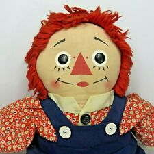 Vintage 60s Raggedy Andy Cloth Rag Doll Gruelle 18""