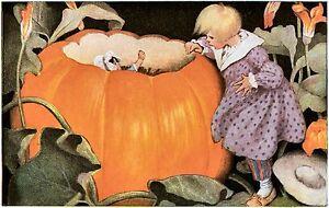 Jessie Wilcox Smith Pumpkin Eater wall Nursery hangings 10 x 8 print