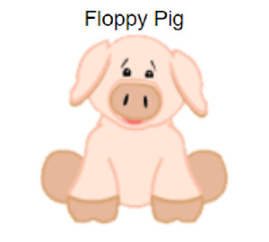 Webkinz Classic Floppy Pig *Code Only*