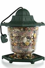 Paws & Pals Collapsible Outdoor Hanging Wild Bird Feeder - Single Port - Green