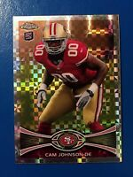 "2012 TOPPS CHROME #159 CAM JOHNSON ""XFRACTOR"" ROOKIE RC - SAN FRANCISCO 49ERS"