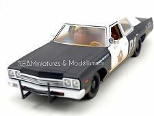 "DODGE MONACO 1974 DU FILM "" LES BLUES BROTHERS"" 1980 1:24 FE17DC"