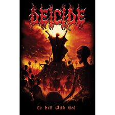 Deicide Poster Flag - To Hell With God Death Metal Music Fabric Wall Tapestry