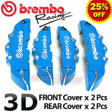 BLUE Brembo Style Universal Disc Brake Caliper Covers 4PCS Front & Rear NEW 3D