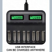 8 Slots LCd Display Usb Smart Battery Charger For Aa Aaa Sc C D Size Recharge AU