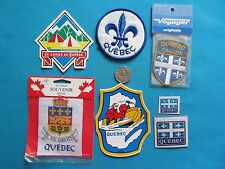 ** VOYAGER QUEBEC SNOWMOBILE CAMPING LOT TRAVEL TOURIST PATCH STICKER DECAL **