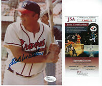 BRAVES Eddie Mathews signed 5x7 photo JSA COA AUTO Autographed Milwaukee HOFer