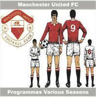 Programme Manchester United Football Old Trafford Home Programmes Various Games