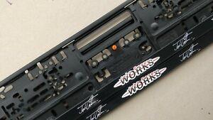 1 X MINI COOPER Kennzeichenhalter License Plate Frames