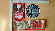RARE WOVEN DEATH PATCH OBITUARY MORBID ANGEL HELLHAMMER CELTIC FROST BLOODBATH