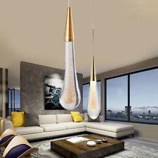 LED Rain Drop Crystal Pendant Light Chandelier Living Room Island Ceiling