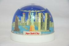 Rare Vintage New York Snow Globe / Snow Dome Hong Kong - Twin Towers