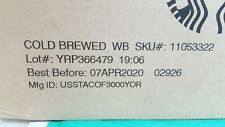 STARBUCKS COLD BREWED WHOLE BEAN 6 LB COFFEE 04/07/2020 NEW