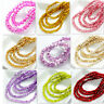 New Colors 200pcs Rondelle Faceted Crystal Glass Loose Spacer Beads 4mm