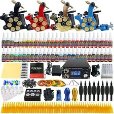 Complete Tattoo Kit  Set 4 Machine Gun 54 Ink Color Needle Power Supply TK458