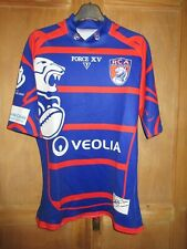 Maillot rugby R.C ARRAS porté n°15 FORCE XV moulant home shirt XL