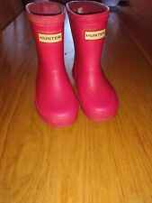 kids hunter wellies size 4 infant pink