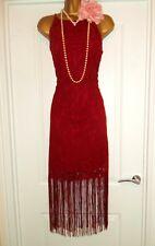 NEXT 1920s Style Gatsby Flapper Charleston Fringe Tassel  Dress Size 12