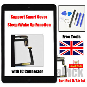 For iPad 5 Air Retina Black Touch Screen Replacement Front Glass Home Button UK