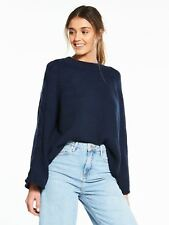 River Island River Island Wide Sleeve Jumper- Navy -Size 6 - New