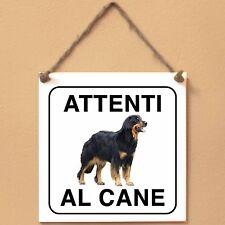 Hovawart 1 Attenti al cane Targa cane cartello ceramic tiles
