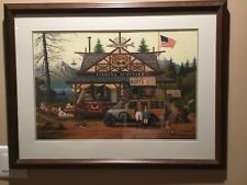 "Charles Wysocki""Proud little angler""1596 / 2750 Hand signed ""Great Christmas Gif"