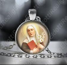 St. CATHERINE of SIENA Necklace Catholic Christian Pendant. FREE Shipping
