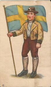 Paterson, NEW JERSEY - Pioneer Bread - ADVERTISING - Sweden Flag - TRADE CARD