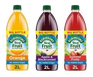(2L)Robinsons No Added Sugar Orange,Apple & Blackcurrant,Summer Fruits Squash