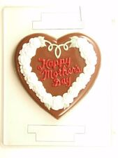 HAPPY MOTHERS DAY LARGE HEART CLEAR PLASTIC CHOCOLATE CANDY MOLD M016