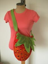 STRAWBERRY BAG NEPAL : Handcrafted Multi-color Felt Cotton Lined Shoulder Purse