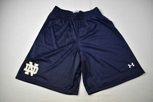 Notre Dame Fighting Irish Under Armour Shorts Men's Navy HeatGear NEW L