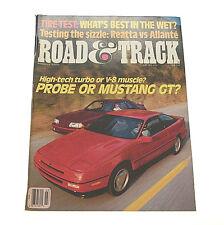 Road & Track Magazine March 1988 Reatta vs Allante, Oldsmobile Aerotech, Bugatti