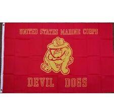 3' X 5' US MARINE CORPS/USMC DEVIL DOG FLAG