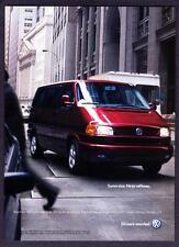 "2001 VW Volkswagen EuroVan photo ""Sumo Size. Ninja Reflexes"" promo print ad"