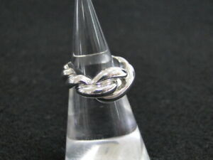 Auth HERMES Accessory Design Ring 50 US Size 4 Silver 925 $0 Ship 06180019000 K
