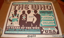 50 Years of The Who Poster by Chris Hopewell #/275 MSG NYC 3/3/16 SOLD OUT