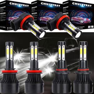 4-sides LED Headlight Bulbs Hi-Low Beam & Fog Light For 2009-2014 Nissan Murano