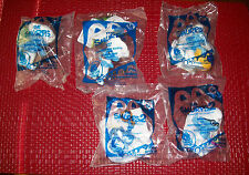 2011 2013 Lot of 5 MCDONALDS HAPPY MEAL TOY THE SMURFS NIP Brainy Vanity Baker