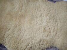 More details for antique genuine sheepskin/hide rug cream
