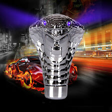 Universal Car Cobra Head Gear Shift Knob Blue LED Eyes Shifter Manual Automatic