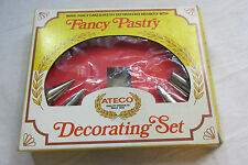 ATECO Vintage Fancy Pastry Cake Decorating 6pc Basic Designs Set extra pieces