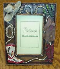 "Southwestern Cowboy Style Resin 3"" By 5"" Photo Stand-Up Photo Frame"
